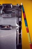 Cilindro de Snare de prata da faísca Imagens de Stock