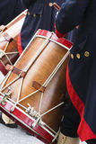 Cilindro de Snare histórico na parada fotos de stock royalty free