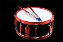 Cilindro de Snare vermelho e preto Foto de Stock Royalty Free