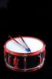 Cilindro de Snare vermelho e preto Fotografia de Stock