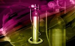 Cilindro di ossigeno Immagine Stock