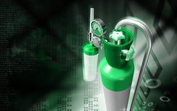 Cilindro di ossigeno Fotografia Stock Libera da Diritti