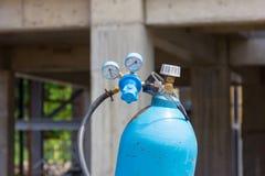 Cilindro di ossigeno Fotografia Stock