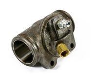 Cilindro di ruote idraulico automobilistico antico fotografie stock