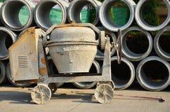 Cilindro do cimento ou do misturador concreto Foto de Stock Royalty Free