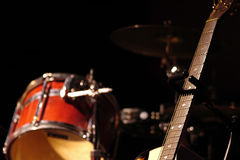 Cilindro e guitarra Fotografia de Stock
