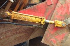 Cilindro hidráulico Imagens de Stock