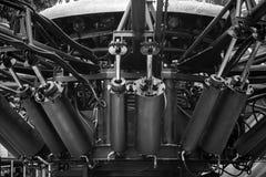 Cilindro hidráulico Foto de archivo