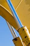 Cilindro idraulico Fotografie Stock