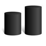 Cilindro nero forma geometrica 3D Derisione su Royalty Illustrazione gratis