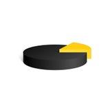 Cilindro nero & giallo Diagramma forma geometrica 3D Illustrazione Vettoriale