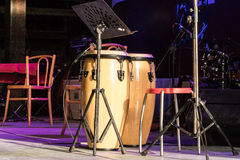 Cilindro para a música no concerto Fotografia de Stock Royalty Free