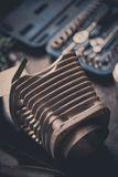 Cilindro raffreddato ad aria del motociclo Immagini Stock Libere da Diritti
