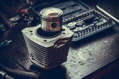Cilindro raffreddato ad aria del motociclo Fotografia Stock Libera da Diritti