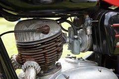 Motor retro de la motocicleta Fotos de archivo libres de regalías
