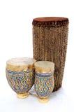 Cilindros africanos dos bongos fotografia de stock royalty free