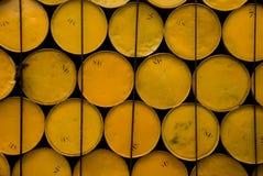 Cilindros amarelos Fotos de Stock Royalty Free