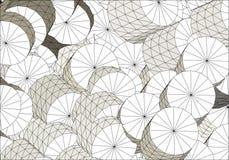Cilindros brancos múltiplos do wireframe Foto de Stock