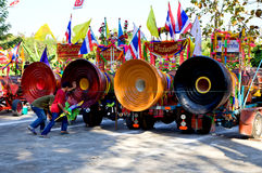 Cilindros ceremomial tailandeses. imagem de stock