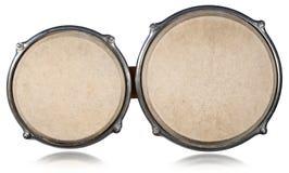 Cilindros de bongos - vista superior imagem de stock