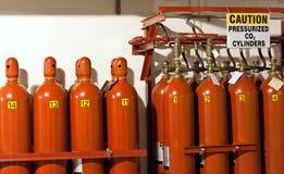 Cilindros de gás Imagens de Stock