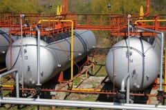Cilindros de gás (tanques de armazenamento) Fotografia de Stock Royalty Free