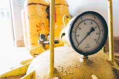 Cilindros de gas del cloro Imagen de archivo