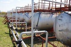 Cilindros de GNL (tanques) Imagens de Stock