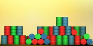 Cilindros de petróleo Foto de Stock
