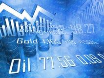 Cilindros de petróleo com preços da energia Ilustração Stock