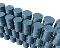Cilindros de petróleo novos Fotografia de Stock Royalty Free