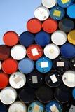 Cilindros de petróleo Imagens de Stock Royalty Free