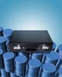 Cilindros e pasta de petróleo Fotografia de Stock
