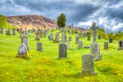 Cemetery Scottish Highlands Royalty Free Stock Photos