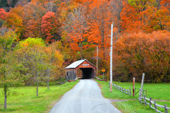 Cilley covered bridge in Vermont Royalty Free Stock Images