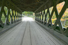 The Cilleyville Bog covered bridge in Andover, New Hampshire Royalty Free Stock Photography
