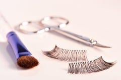 Cils et mascara Photographie stock