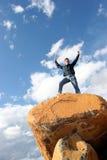 In cima al mondo Fotografia Stock