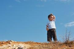 In cima alla collina Fotografia Stock