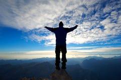 In cima alla montagna Fotografia Stock Libera da Diritti