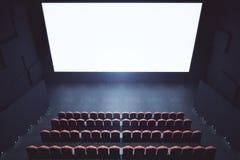 Cima in bianco dello schermo del cinema Immagini Stock
