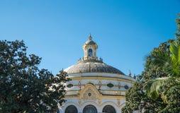 Cima a cupola decorata del tetto Fotografia Stock