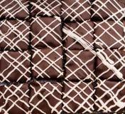 Cima del brownie Fotografia Stock