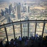 Cima del Burj Khalifa Fotografie Stock Libere da Diritti
