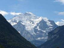 Cima del ` della montagna del ` di Europa nelle alpi svizzere, come prese da Interlaken, la Svizzera Fotografia Stock Libera da Diritti