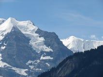 Cima del ` della montagna del ` di Europa nelle alpi svizzere, come prese da Interlaken, la Svizzera Fotografie Stock