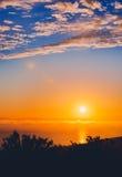 Cima del mondo, cielo di tramonto di Laguna Fotografie Stock Libere da Diritti