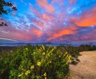 Cima del mondo, cielo di tramonto di Laguna Fotografia Stock