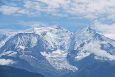 Cima del Monte Bianco Immagini Stock Libere da Diritti