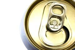 Cima del primo piano delle latte di birra Fotografie Stock